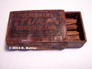 U-869 Matches Close-up
