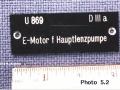 UW Artifact Close Up of U 869 Tag